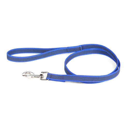 JULIUS-K9® Super-Grip leash blue 14mm with handle