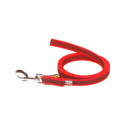JULIUS-K9® Super-Grip leash red 14 mm without handle