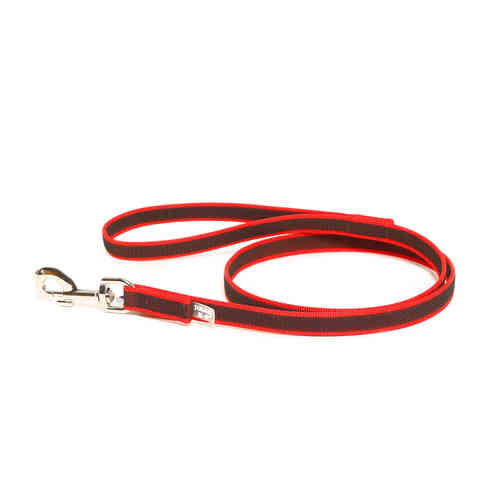 JULIUS-K9® Super-Grip leash red 14 mm with handle