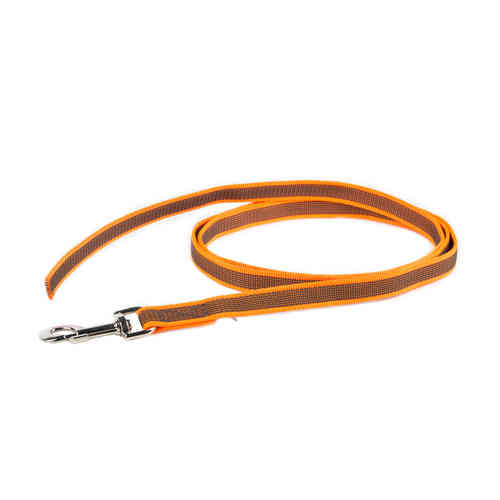 JULIUS-K9® Super-Grip leash orange 20mm without handle