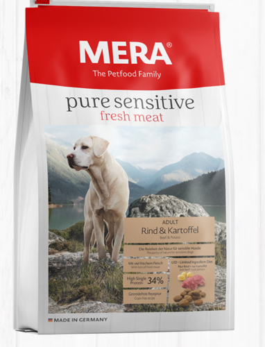 MERA Pure Sensitive FRESH MEAT Beef & Potato High Protein