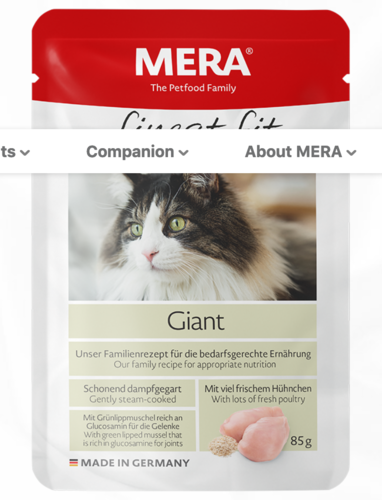 MERA Finest Fit Giant cat 85 g annospussi