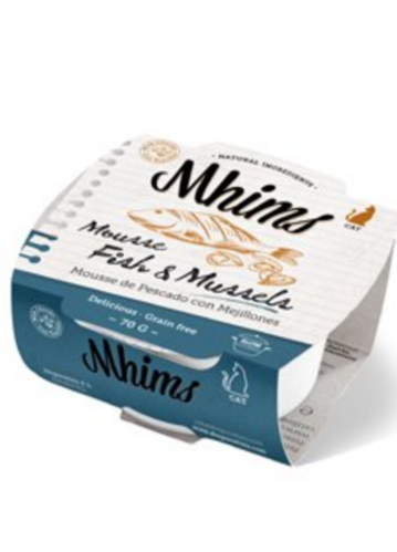 MHIMS CAT MOUSSE kala-simpukka 70 g