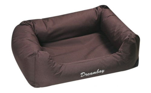 Strong fabric soft dog bed 65 cm brown