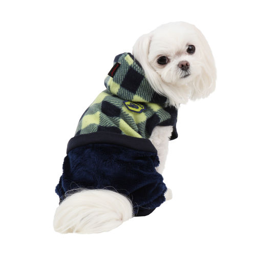 PUPPIA warm dog overall blure S