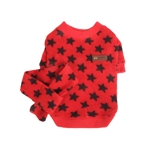 PUPPIA knitted shirt for dog red