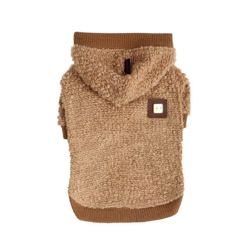 PUPPIA knitted hoodie for dgo beige/gold M