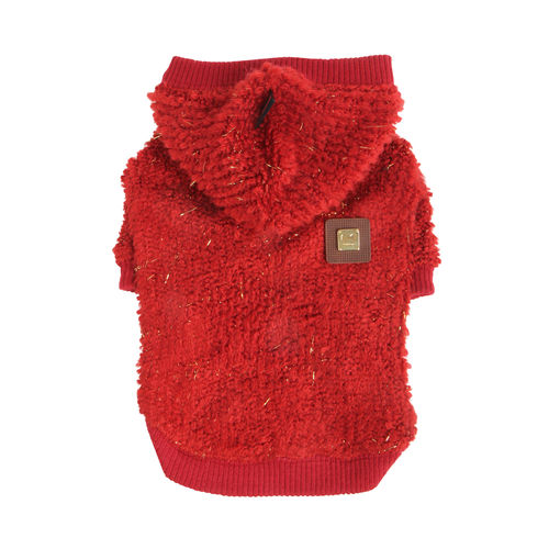 PUPPIA knitted hoodie red M