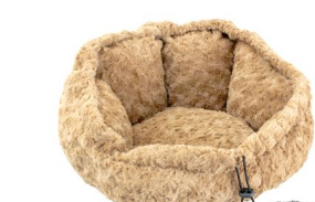 Cuddle bed for small dog beige