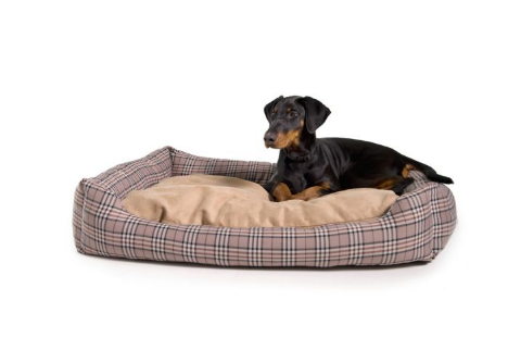 Dog soft bed check 80cm