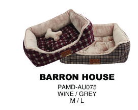 Puppia barron house dogbed grey
