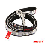 Puppia dog leash black check