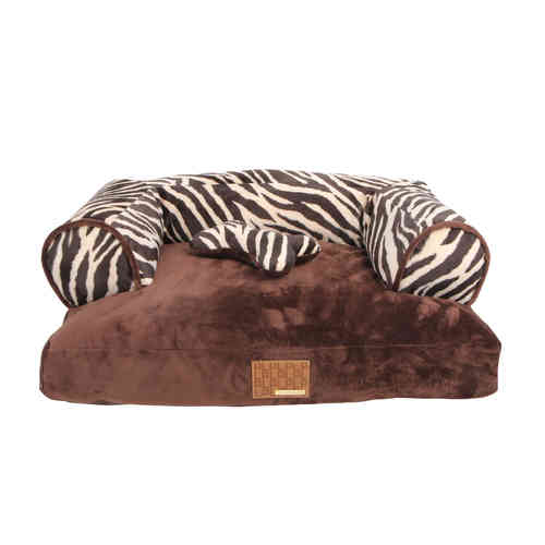 Puppia dog bed brown  65 x 55 x 20cm