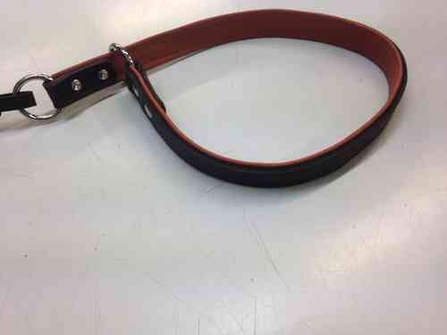 URHO leather dog collar brown/cognac 18mm x 60 cm