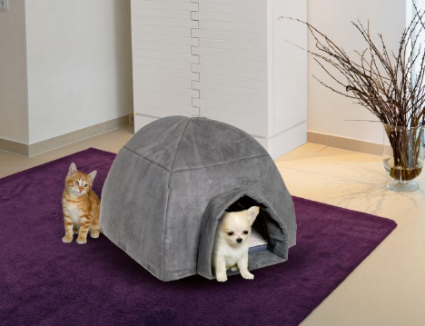 Igloo dog/cat bed