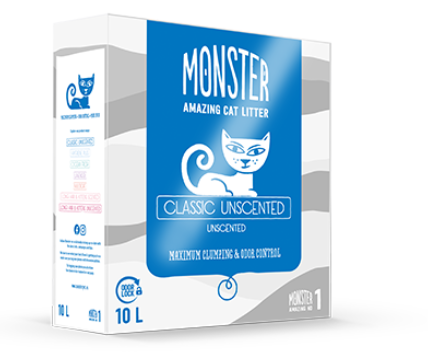 Monster classic unscented  kissanhiekka 10kg