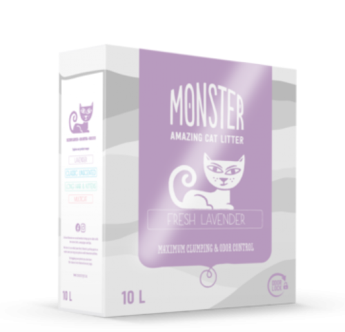 Monster Fresh lavender kissanhiekka 10 litr