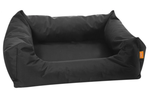 Dog bed black strong easy clean fabric 80x67x22cm