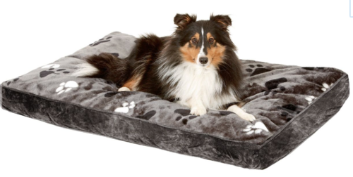 Dog soft mattress grey paw-print