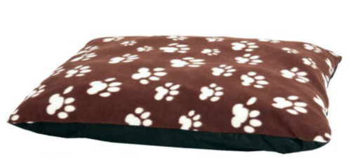 soft dog mattress paw print brown 97x71x4cm