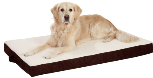 Orthopedic dog mattress brown 100x65x12 cm