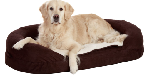 Orthopedic dog bed brown 72 x 50 x 20 cm